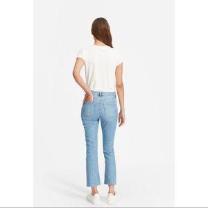 Everlane kick crop jeans light wash sz 26
